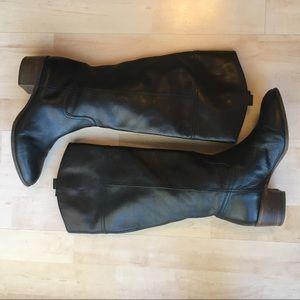 Louise et Cie black leather equestrian boots
